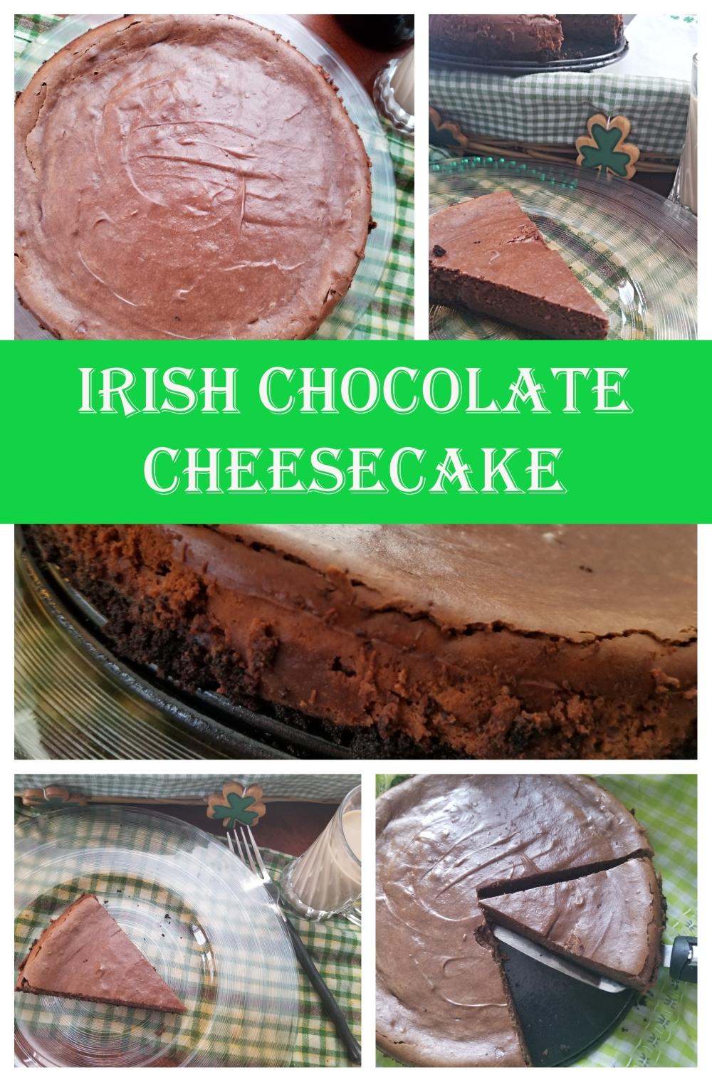 pinterest collage irish cheesecake