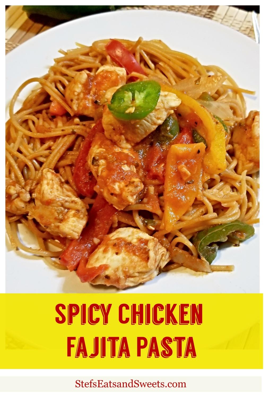pinterest collage spicy fajita pasta