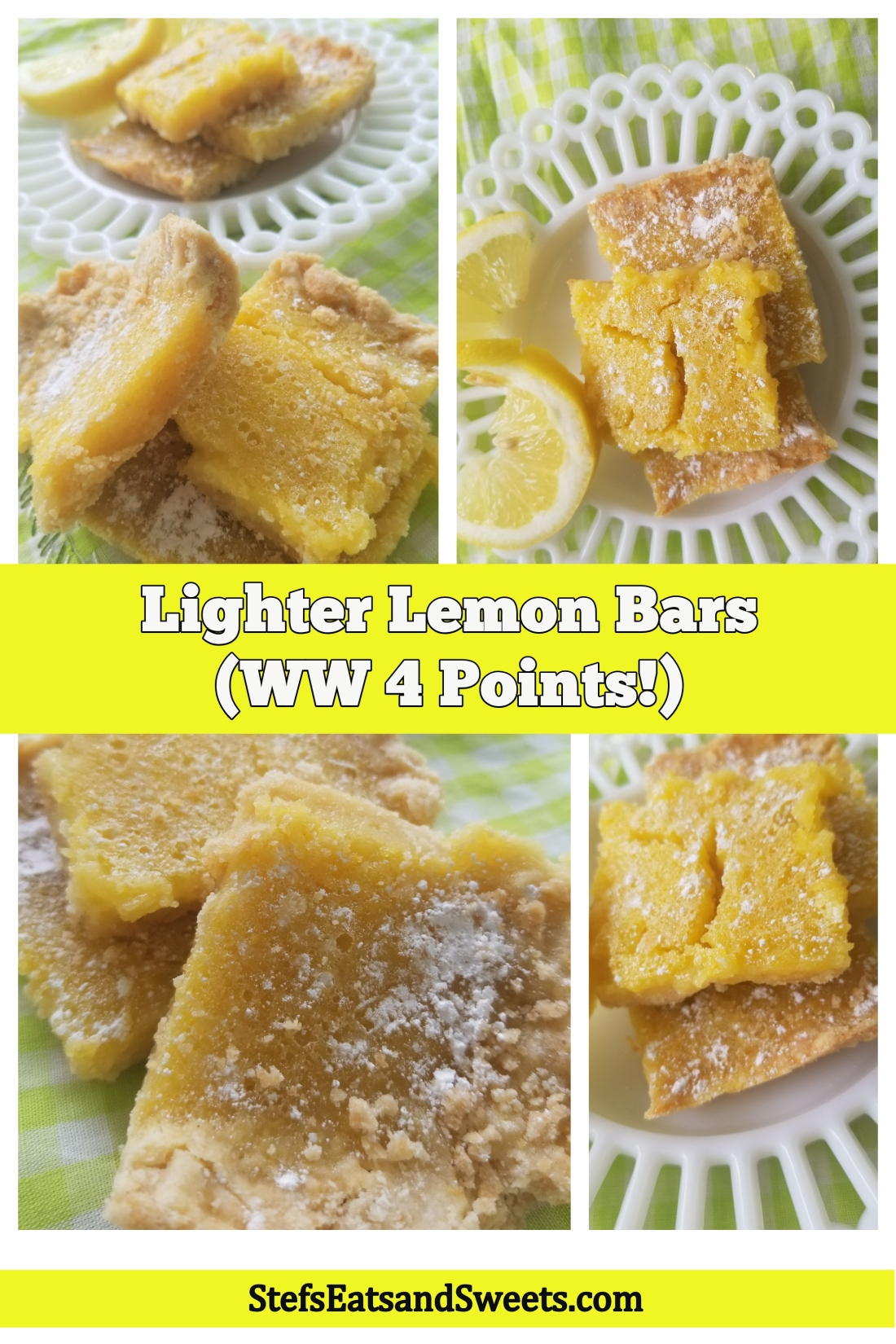lemon bars collage