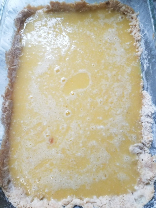 lemon bars in process 7